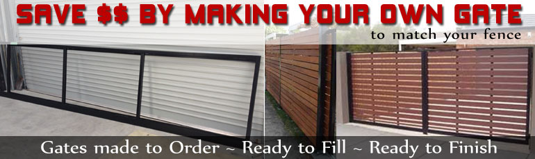 Gates made to order, Ready to Fill, Ready to Finish - Make your own gate to match your fence